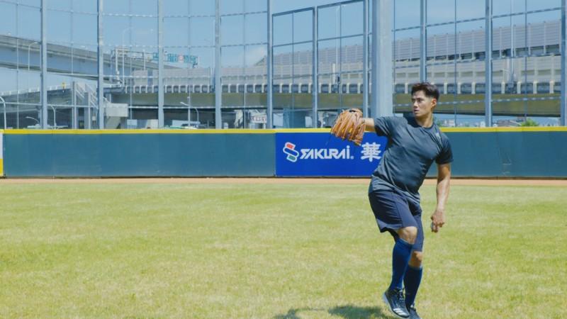 陳偉殷(見圖)近日與新北市棒球隊球員一同技術訓練。(新北市政府體育處提供)