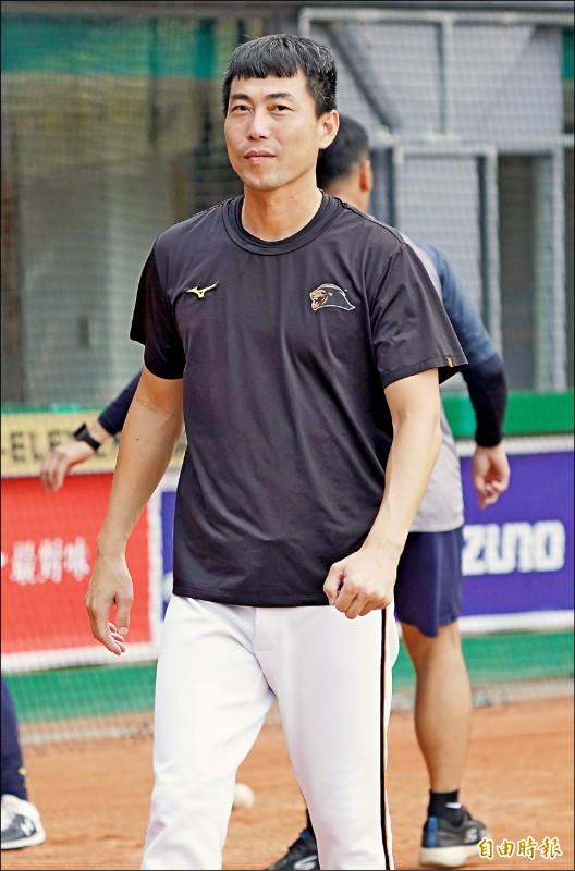 統一獅總教練林岳平。(記者黃志源攝)