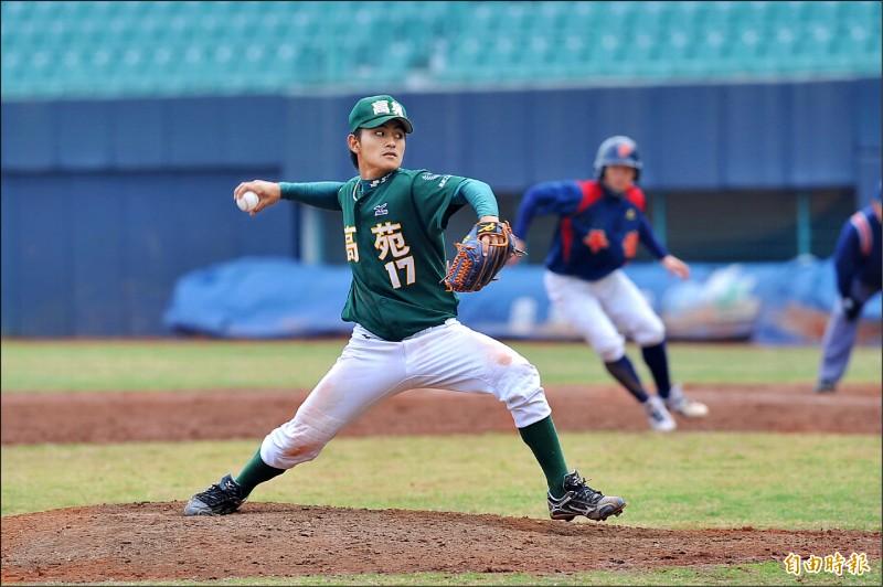 林子偉高中時期也當過後援投手。(資料照,記者廖耀東攝)