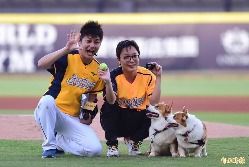中職》中信兄弟邀明星犬「開球」 「滾過狗生最棒的草皮」