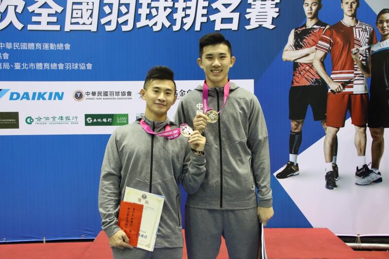 羽球》和王齊麟說好一起奪冠!蘇敬恒/葉宏蔚獲排名賽男雙冠軍