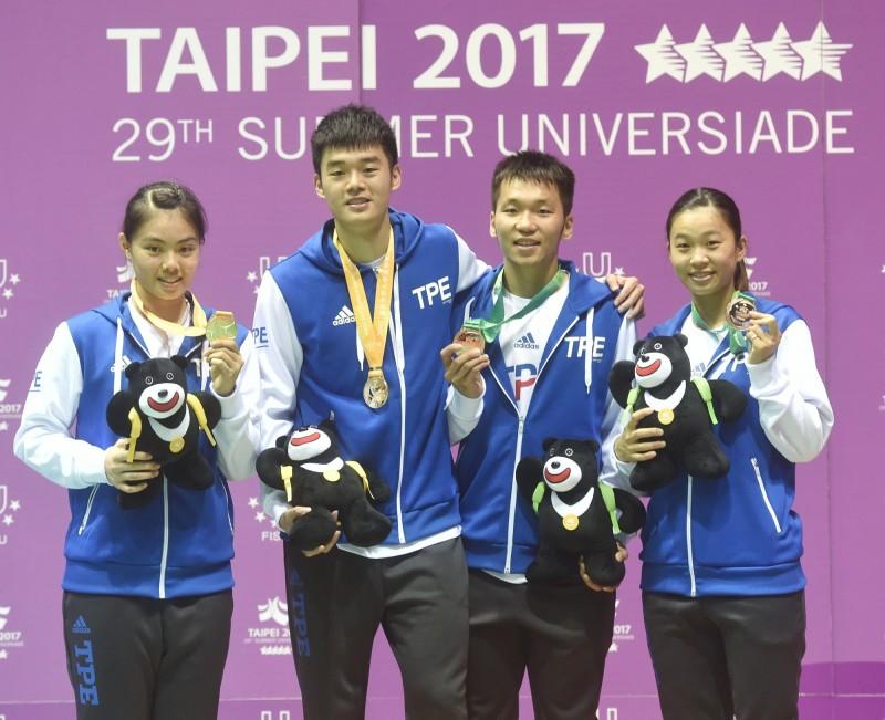 世大運》台灣代表團掃90面獎牌 國光獎金數字可觀