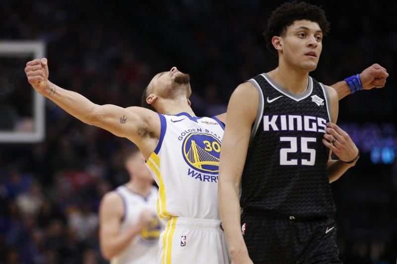 NBA》柯瑞狂飆10記三分彈!勇士攜國王寫歷史紀錄(影音)