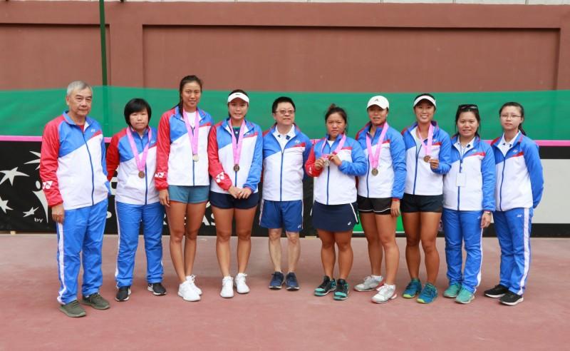 網球》台灣娘子軍重返聯邦盃亞大區一級 横掃新加坡3連勝封后