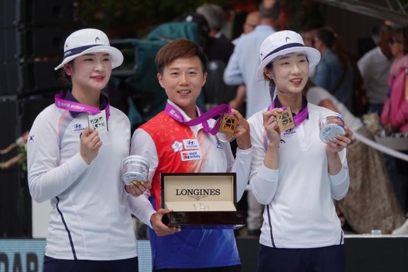 射箭世錦賽》雷千瑩加射險勝南韓名將 個人賽隊史首金入袋