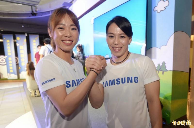 奧運奪牌希望郭婞淳、譚雅婷為三星公益路跑站台