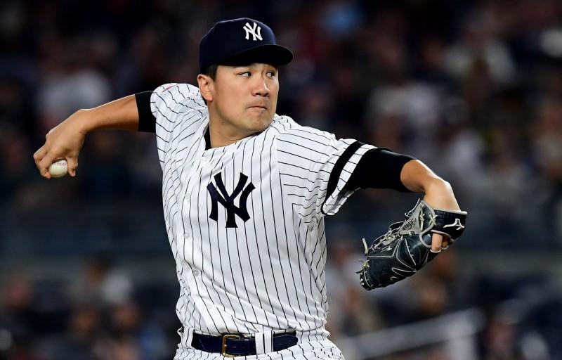 MLB》田中將大7局好投退天使 洋基主場自力封王