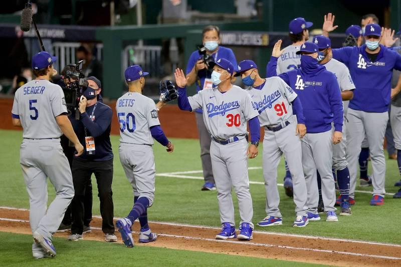 MLB》只差1勝就能與湖人同年奪冠 道奇聽牌詹姆斯超興奮