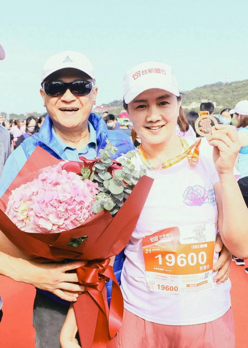 路跑》最美董娘彭雪芬征服21K!台新女子路跑萬人響應