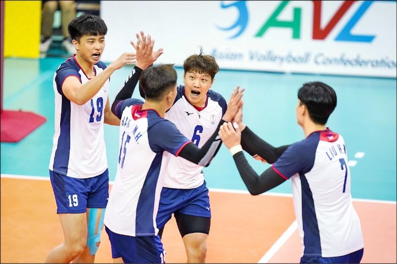 台灣男排 重返亞洲4強