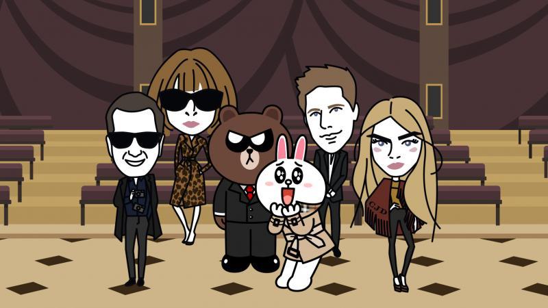 兔兔、熊大也穿BURBERRY風衣去倫敦看秀囉!