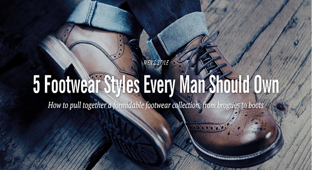 一秒變型男!男人都該擁有的5鞋款