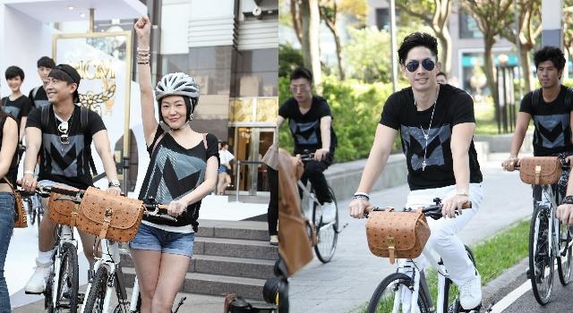 潮牌開幕星光閃閃!小S、吳建豪帶隊騎腳踏車做公益