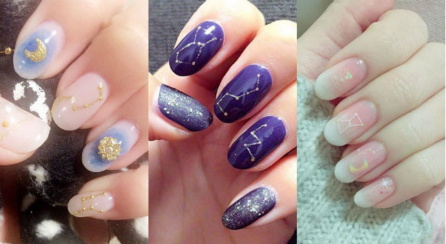 日本妞瘋玩「星座美甲」!超美星空就藏在你的指尖