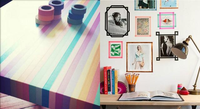 初學者也沒問題!超簡單紙膠帶DIY改變房間氣氛