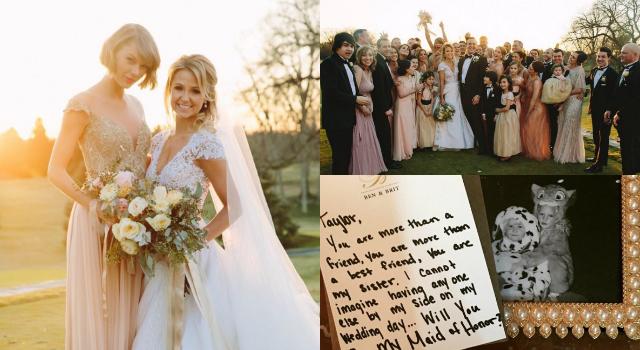 認識26年的好姊妹結婚了!泰勒絲興奮當腿最長伴娘