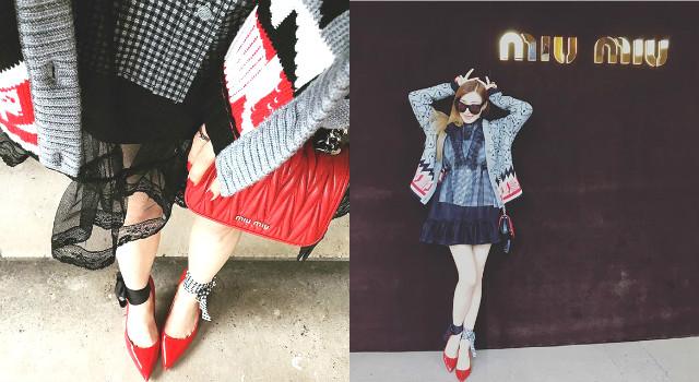 巴黎時裝週壓軸!少時Tiffany秀長腿亮麗出席MIU MIU大秀