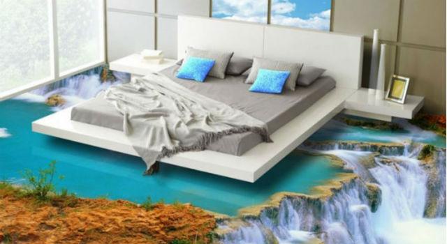 有錢人想得跟你不一樣!杜拜推3D地板臥室變身懸崖瀑布