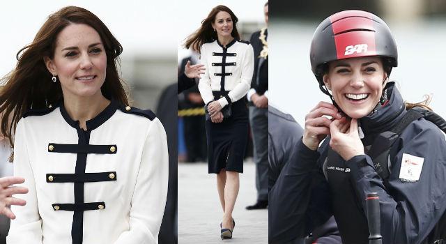凱特王妃海上飆速超給力!舊衣三穿一樣美翻天