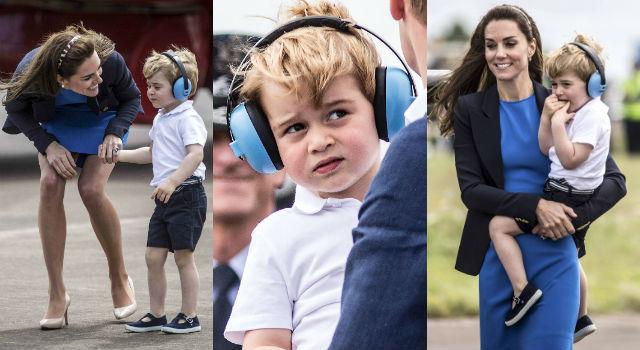喬治小王子帥氣開飛機!凱特王妃這樣穿美美哄兒不走光