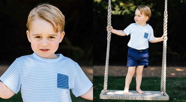 喬治小王子三歲生日快樂!深邃眼神簡直孩童版白馬王子