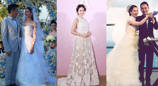林心如、徐若瑄、劉詩詩...女明星婚紗造型誰最美?誰最雷?