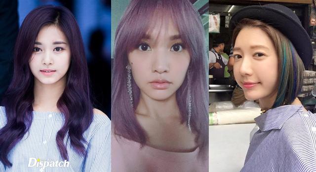 女明星「法式紫丁香」好時髦!楊丞琳、周子瑜全都染上這個色啦!