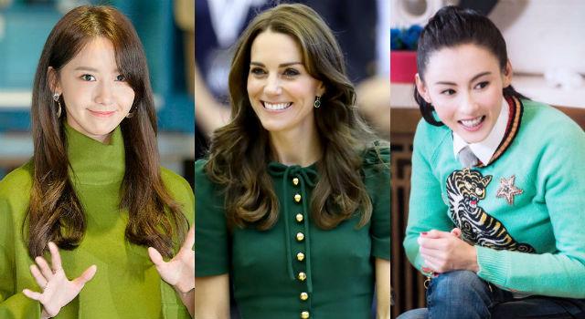 「女神綠」很難駕馭?凱特王妃、張柏芝、潤娥一穿馬上勾起熊熊購物慾!