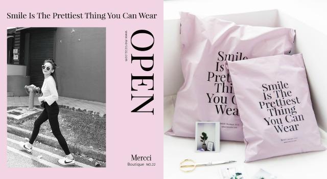 姊妹們的衣櫥都被Mercci22粉色包裝袋攻陷了!部落客漢娜妞自創品牌生火指數堪稱自燃等級!