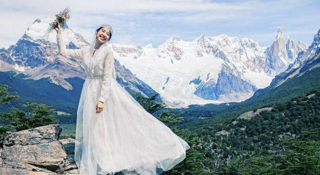 妝髮造型全都自己來!林可彤自助婚紗拍成這樣實在太強了!