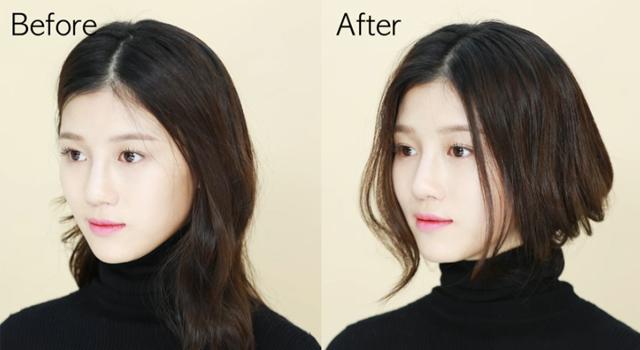 (影片)長髮變短髮不用動刀!1分鐘複製韓劇女主角空氣蓬鬆偽短髮