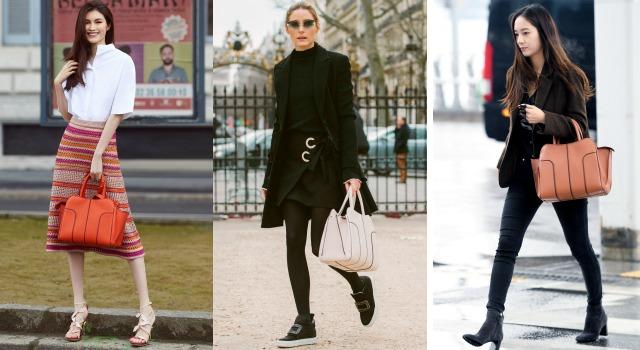 機場私服、時髦街拍都少不了「它」!超模、女星的穿搭加分密技就是TOD'S Sella Bag!