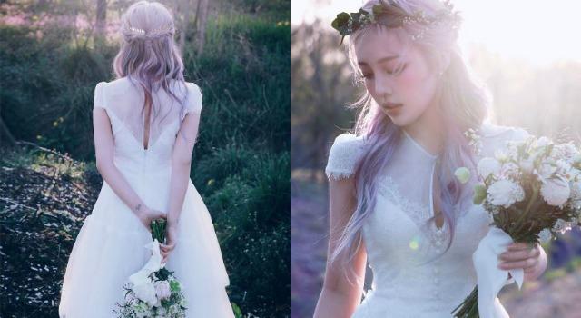 韓妝女神Pony宣布結婚!浪漫薰衣草紫色編髮堪稱女孩夢幻新娘髮型!