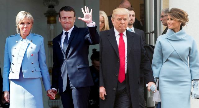 63歲法國第一夫人正面迎戰川普辣妻!就職典禮穿搭不只「神相似」更暗藏大學問