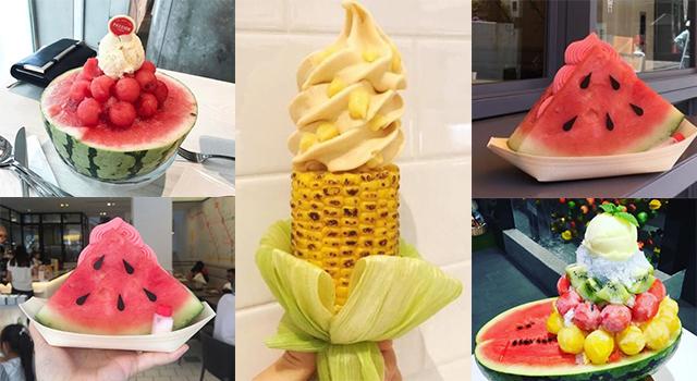 日本妹都在追這個!浮誇又涼爽的「西瓜冰淇淋」這樣吃才叫真正美味!