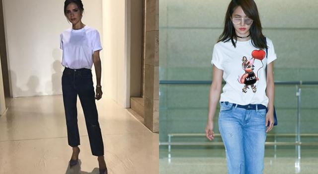貝嫂、蔡依林都在穿「白T恤 x 牛仔褲」!超簡單偷吃步穿搭術萬年不敗