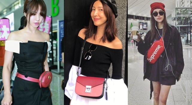 「紅色手袋」太重要!女明星穿搭示範,背上它就完整了!
