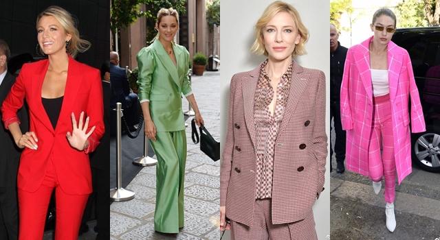 女人也能「帥翻天」!今年秋冬成套褲裝大膽上身,穿對還能顯瘦!