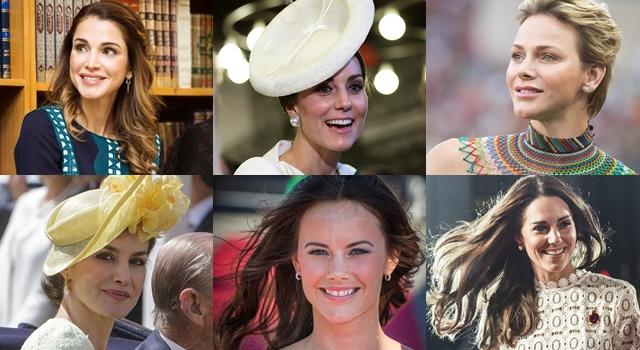 皇室女神的耳環飾品大對決!凱特王妃「珍珠」氣質出眾、約旦王后愛耍個性!