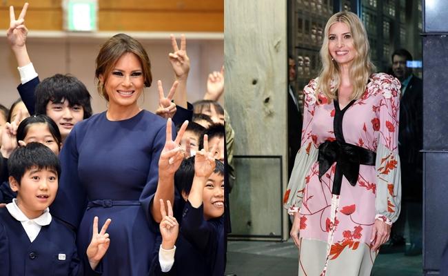 川普訪亞洲衍生女人之戰!夫人梅蘭妮亞尬伊凡卡「時尚外交」火藥味濃厚?