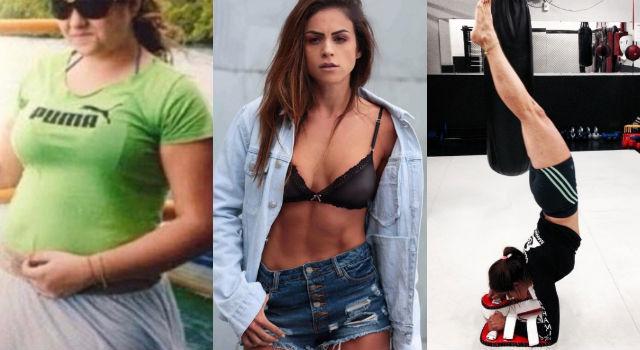 體重破百失戀後狂瘦60kg!巴西女孩「這樣」養出馬甲線和名模臉蛋!