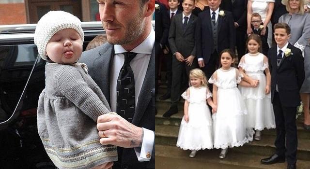 貝克漢「小七妹」穿小白紗當花童!6歲半甩肉成功超可愛萌翻天