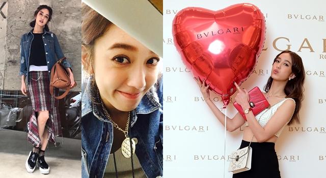 愛心包包、紅色氣球…陳庭妮甜蜜指數大爆發!網友:最近戀愛了嗎?