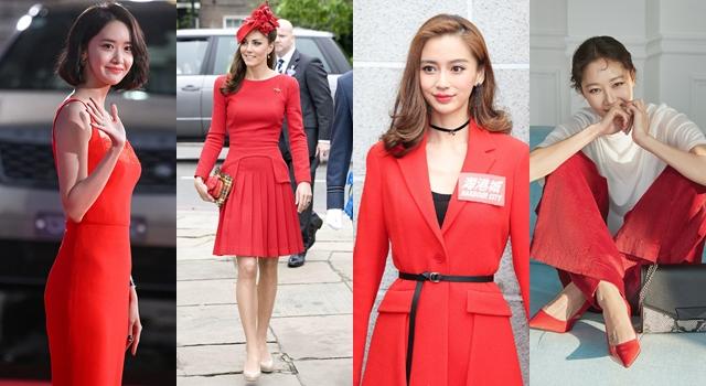 保證沒有「大嬸味」!凱特王妃、孔曉振示範開運紅色比例穿搭