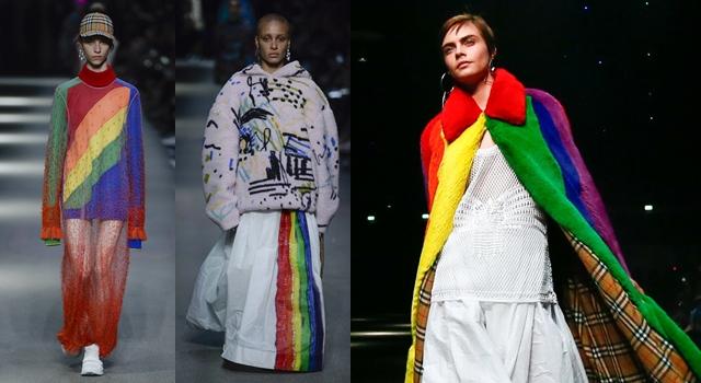 設計師豁出去了?Burberry最新系列與出櫃超模披彩虹炒熱「同志話題」!