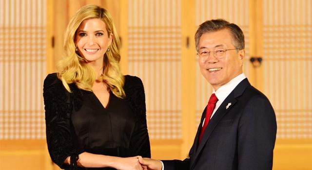 第一千金伊凡卡不改奢華!訪南韓完勝文在寅夫人靠「胸前心機」⋯