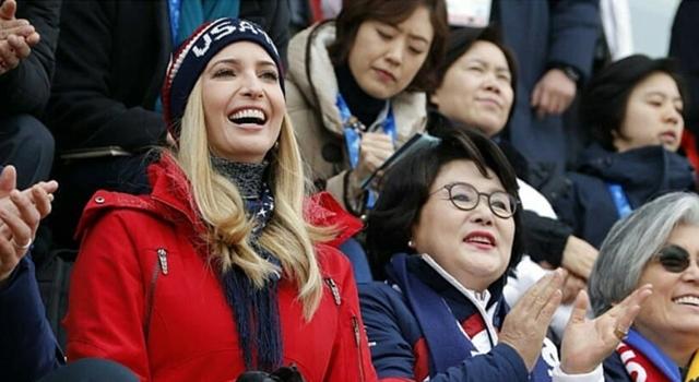 伊凡卡再現「毫不低調」時尚品味!美國國旗色觀賽成平昌冬奧焦點