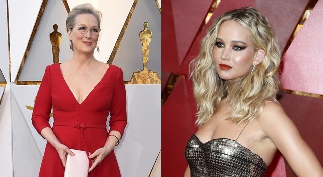 梅姨開深V完勝小42歲女星!奧斯卡紅毯狂露性感「美胸」不分年紀!