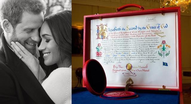 英國皇室公告哈利王子與梅根「結婚同意書」,其實還透露了這些事...