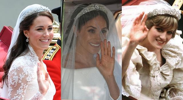 女王再度出借!新王妃梅根婚紗皇冠來自瑪麗皇后!